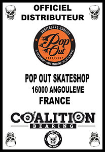 Coalition Bearing Distritution officiel pop out skateshop