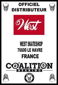 Coalition Bearing Distritution officiel WEST SKATESHOP