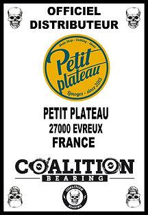 Coalition Bearing Distritution officiel PETIT PLATEAU SKATESHOP