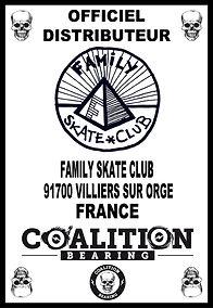 COALITION BEARING Distritution officiel FAMILY SKATE