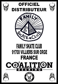 COALITION BEARING Distritution officiel FAMILY SKATE