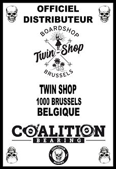 Coalition Bearing Distritution officiel TWIN SKATESHOP BRUSSELS