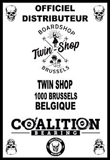 Coalition Bearing Distritution officiel TWIN SKATESHOP BRUSSELS