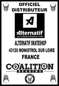 Coalition Bearing Distritution officiel ALTERNATIF SKATESHOP