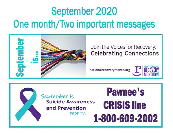 Recovery & Suicide website intro graphic