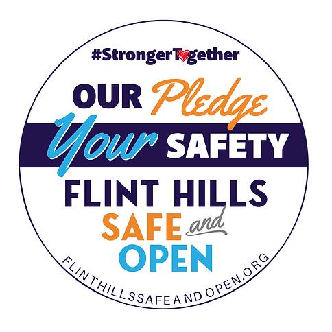 Flint Hills Safe and Open Sticker (003).