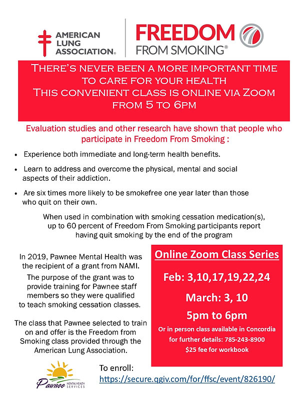 Freedom from Smoking flyer Feb-March 202