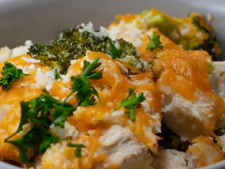 Cauliflower Rice Chicken Bake