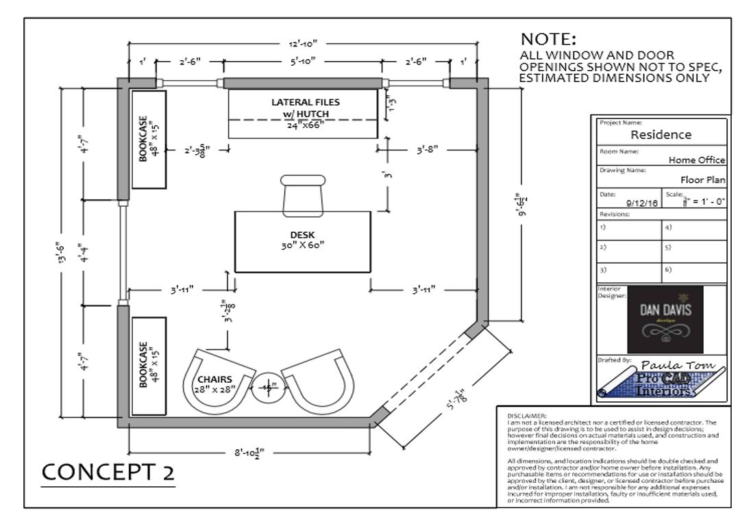 HOME OFFICE-Furniture Floor Plan