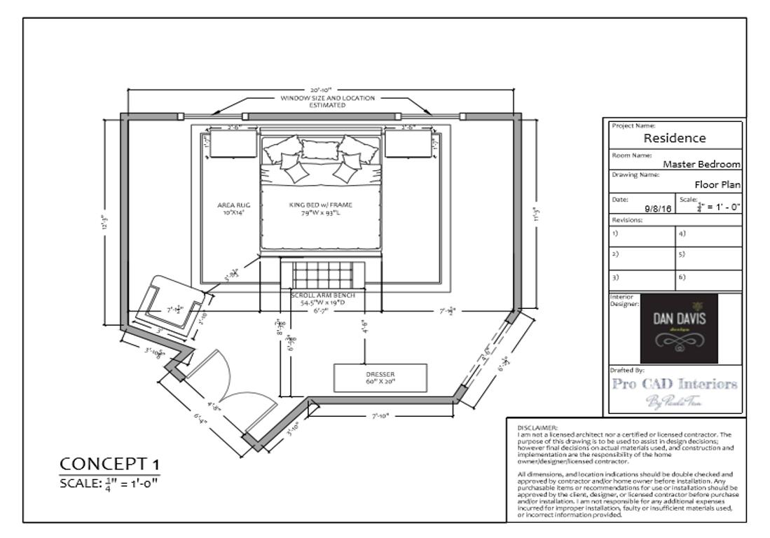 MASTER BEDROOM-Floor Plan Concept 1