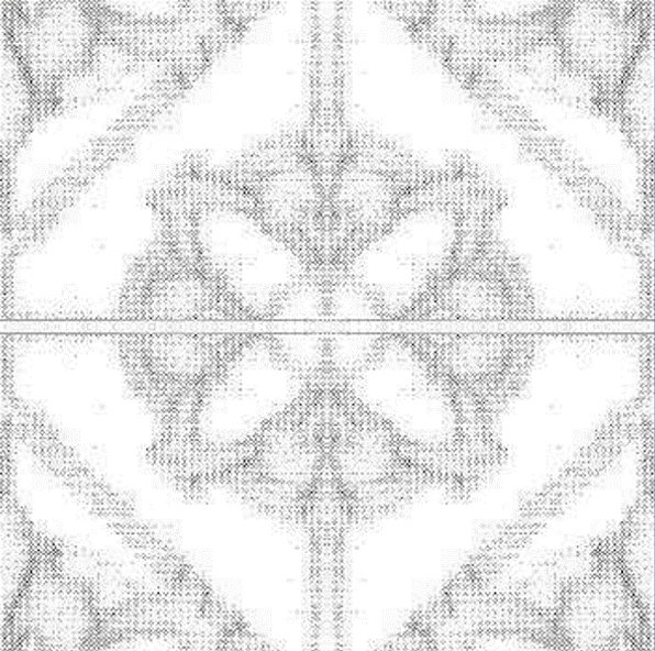 Marble Accent Tile Medallion Pattern clear