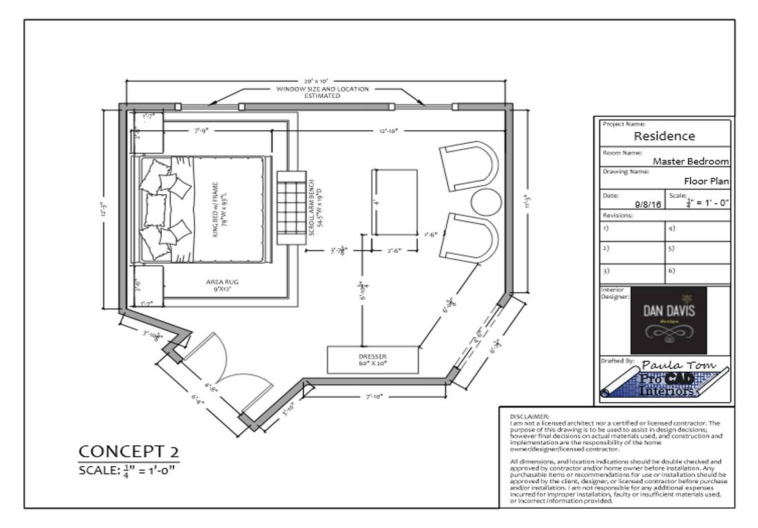 MASTER BEDROOM-Floor Plan Concept 2