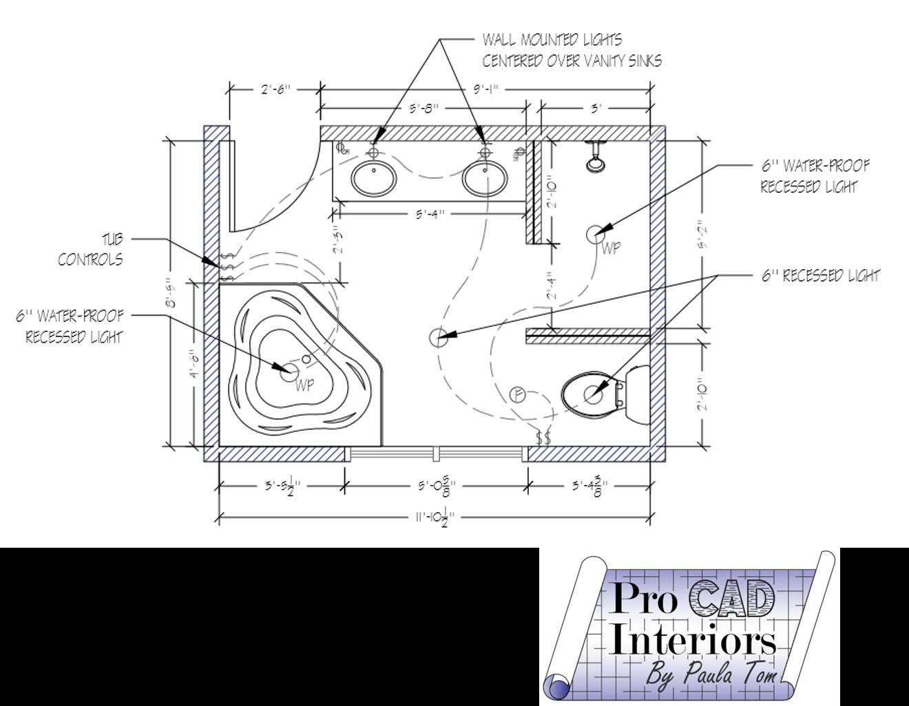 Bathroom Electrical Plan