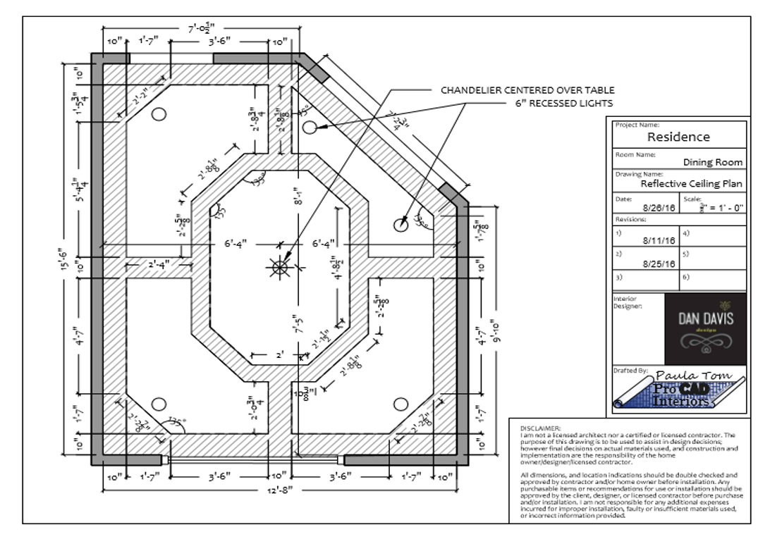DINING ROOM-Reflective Ceiling Plan