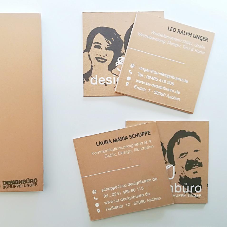 Notizbüchlein und Konzeptvisitenkarten