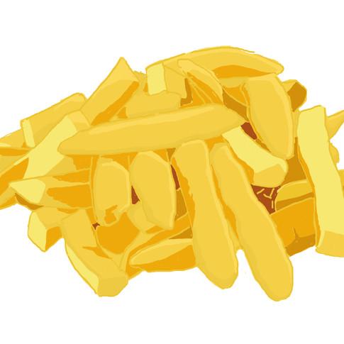 Fritten mit Pommes