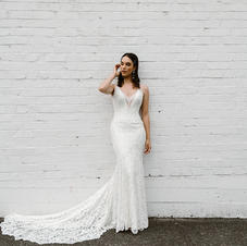 Kelly Lin Couture Cherry Bridal Gown Size 12