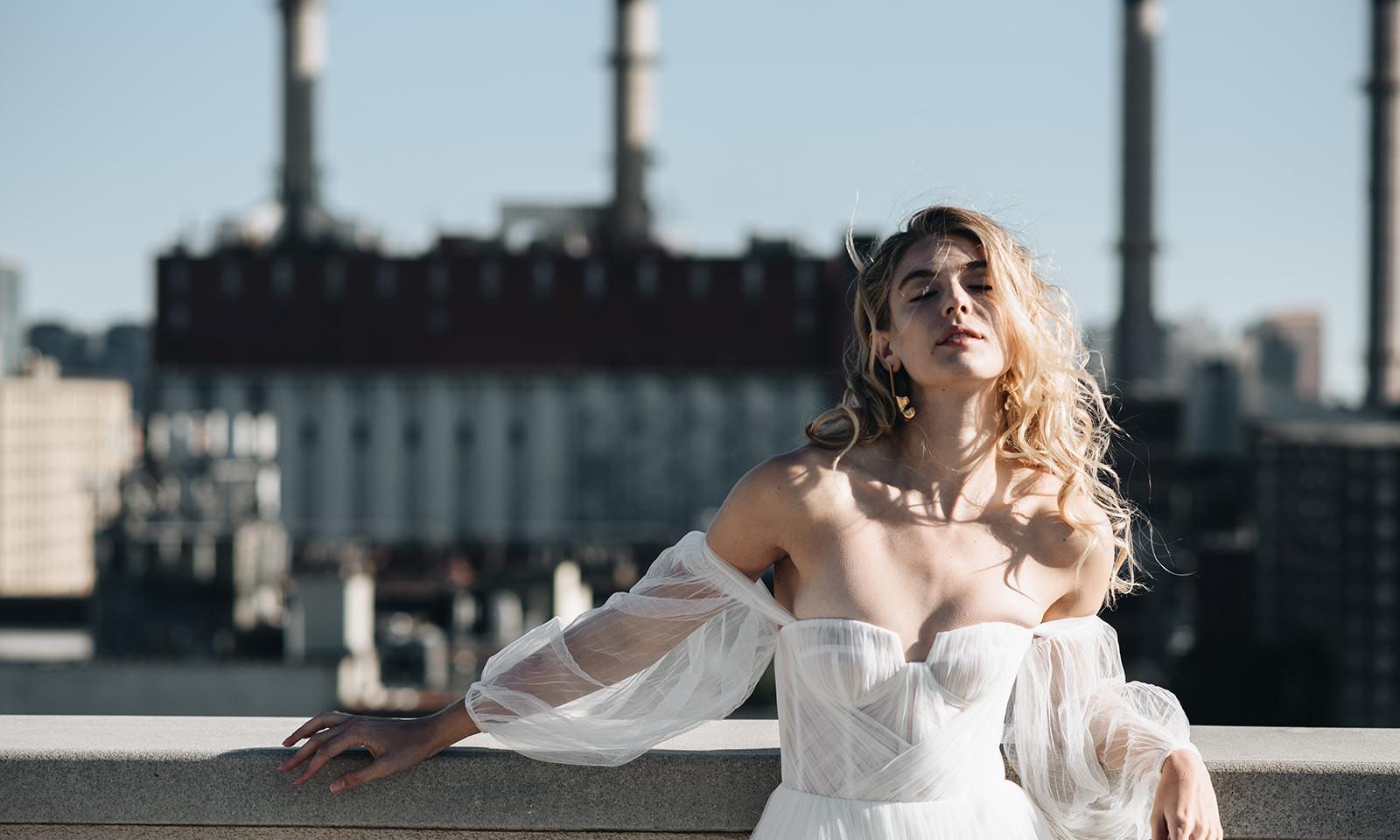 Alena Leena 'Armeria' Bridal Gown Wedding Dress at Halo & Wren