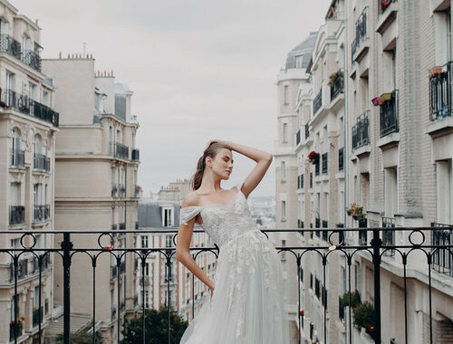 The I V Y gown by Alena Leena Bridal
