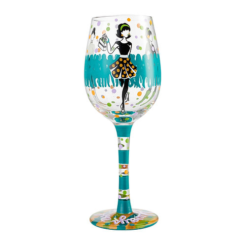 """Lolita """"Stand Out, Be Yourself"""" Wine Glass"""