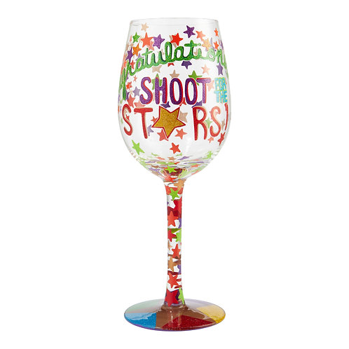 "Lolita "" Shoot For The Stars"" Wine Glass"