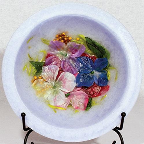 "Habersham 7"" Wax Pottery Vessel Hydrangea"