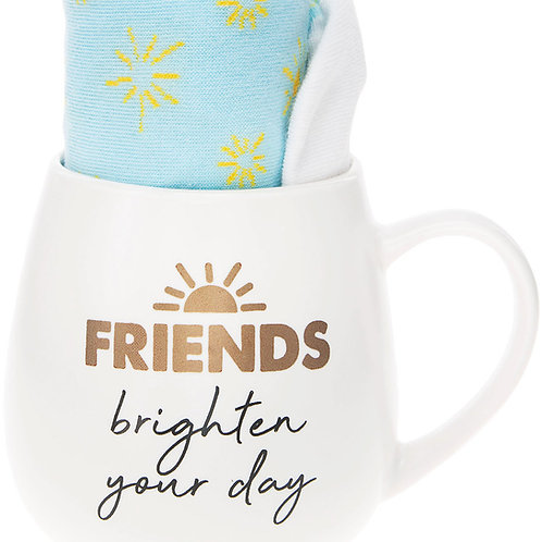 Friends 15 oz Mug And Sock Set