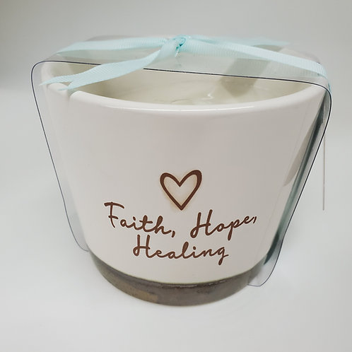 Faith, Hope, Healing - 8 oz - 100% Soy Wax Candle Scent: Tranquility