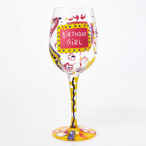 Lolita Birthday Girl Wine Glass