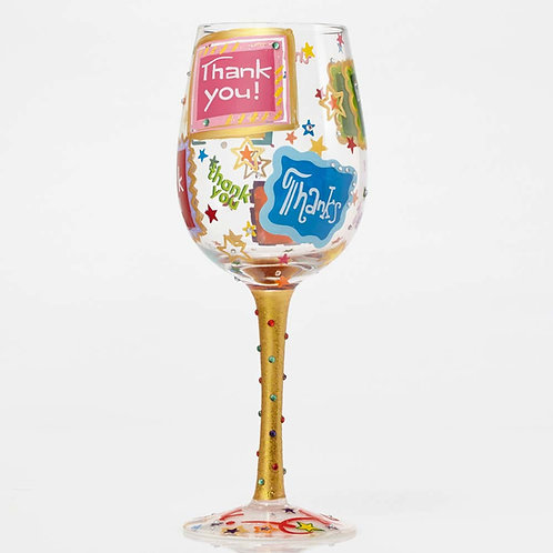 "Lolita ""Thank You"" Wine Glass"