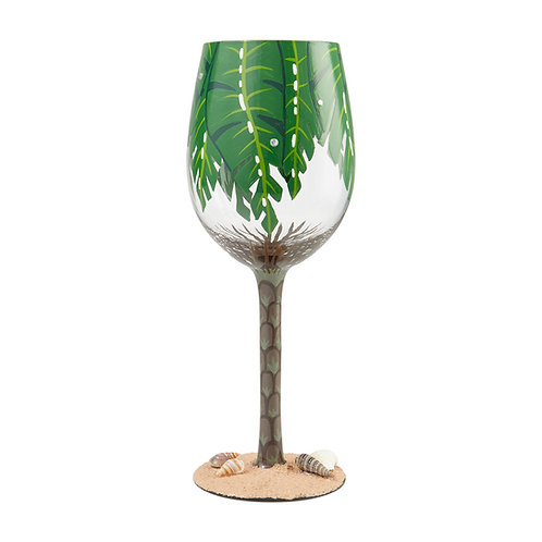Lolita Palm Tree Wine Glass