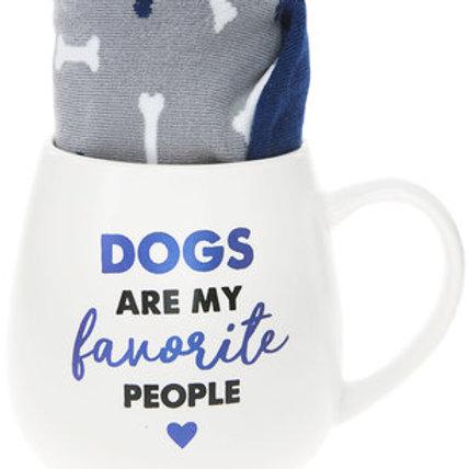 Dog 15 oz Mug And Sock Set