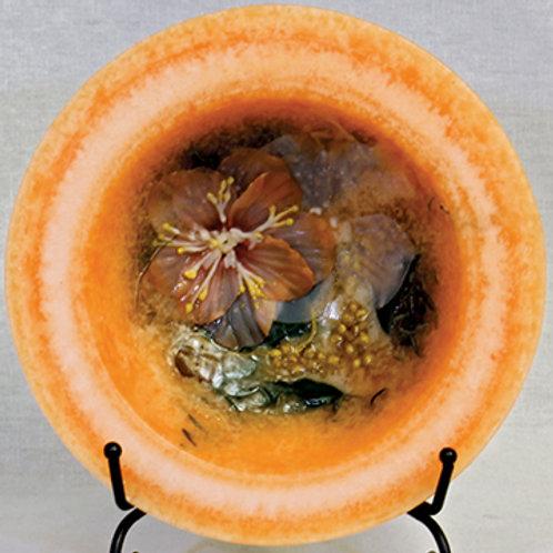 "Habersham 5.5"" Wax Pottery Personal Space Vessel Georgia Peach"