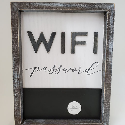 WIFI Plaque With Chalk Board