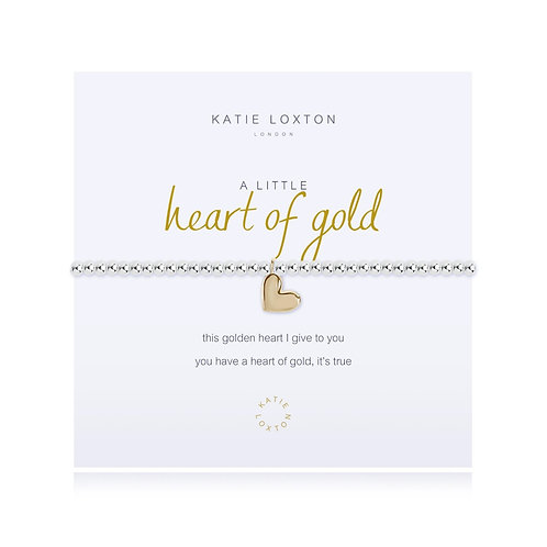 Katie Loxton Heart Of Gold Stretch Bracelet