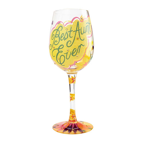 Lolita Best Aunt Ever Wine Glass