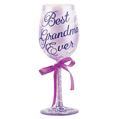 Lolita Best Grandma Ever Wine Glass
