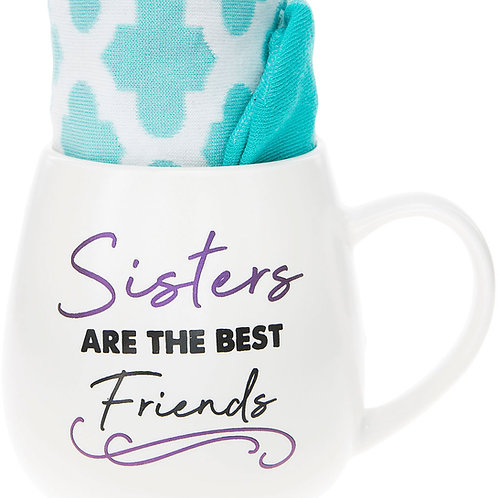 Sisters 15 oz Mug And Sock Set