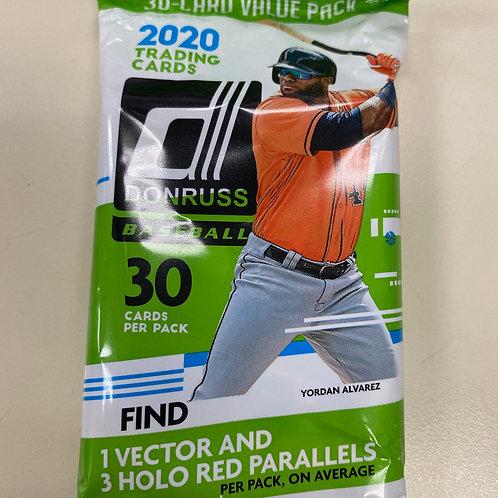 2020 Donruss Baseball Value Pack 30 Cards per pack