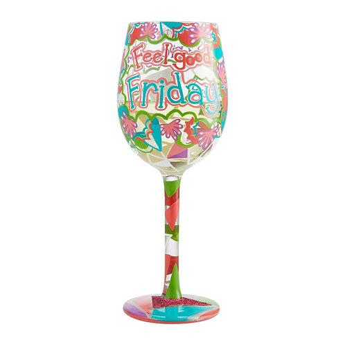 "Lolita ""TGIF"" Wine Glass"