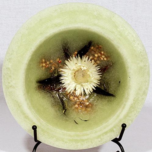 "Habersham 5.5"" Wax Pottery Personal Space Vessel Sage"