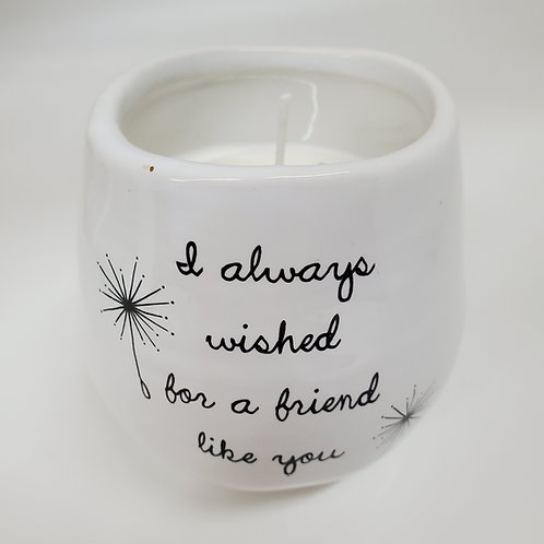 Friend Like You 8 oz - 100% Soy Wax Candle Scent: Serenity