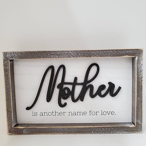 Adams And Co Mother Wooden Plaque