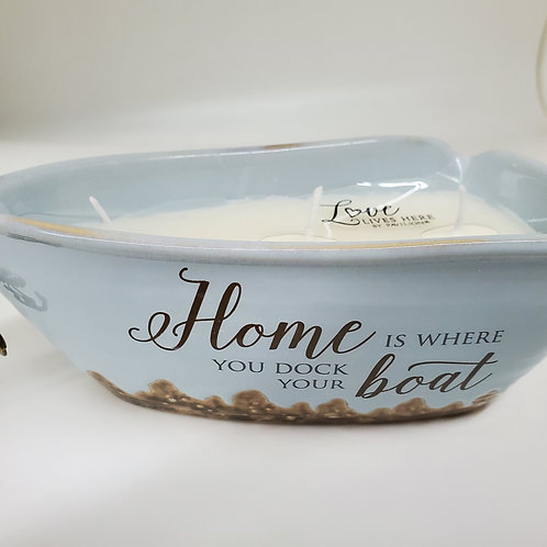 Home Triple Wick 10 oz Soy Wax Candle Scent: Tranquility