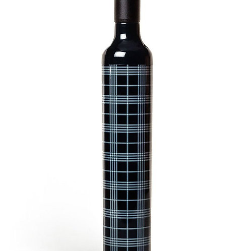 Vinrella Black Plaid Wine Bottle Umbrella
