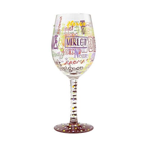 "Lolita ""Wine Is my Type"" Wine Glass"
