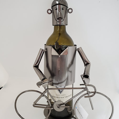 The Bicycle Rider Wine Bottle Holder