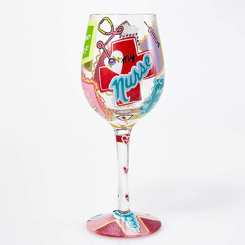 Lolita Nurse Wine Glass
