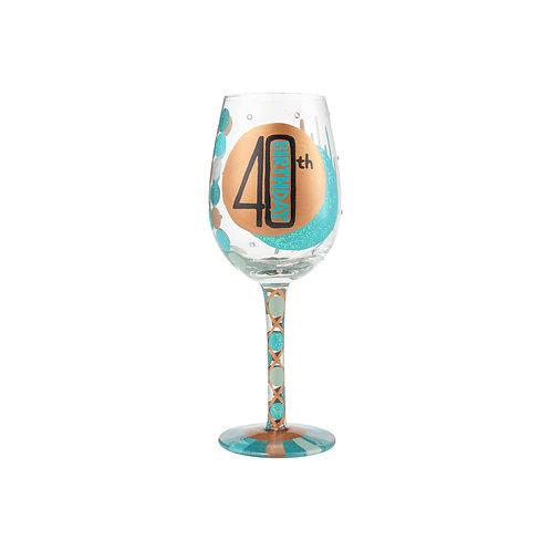 Lolita 40th Birthday Wine Glass