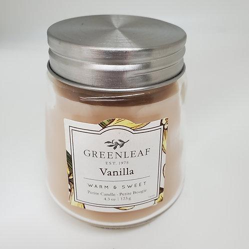 Greenleaf Vanilla Petite Glass Jar Candle